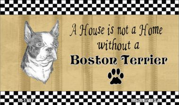 Boston Terrier Pencil Sketch Wholesale Magnet M-1707