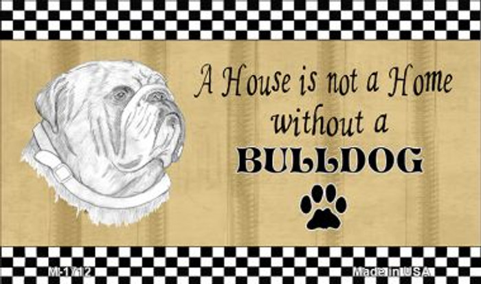 Bulldog Pencil Sketch Wholesale Magnet M-1712