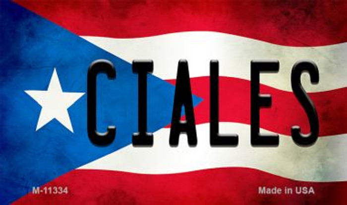 Ciales Puerto Rico State Flag Wholesale Magnet M-11334