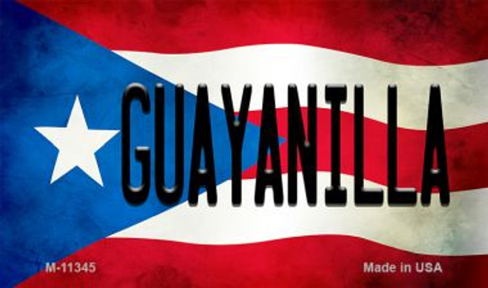 Guayanilla Puerto Rico State Flag Wholesale Magnet M-11345