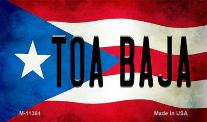 Toa Baja Puerto Rico State Flag Wholesale Magnet M-11384