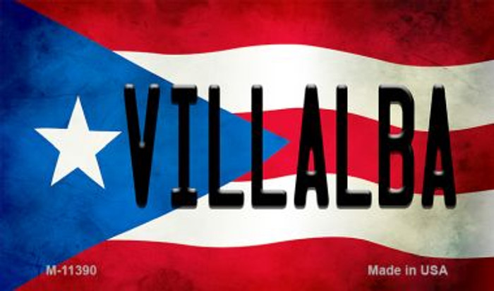 Villalba Puerto Rico State Flag License Plate Wholesale Magnet M-11390