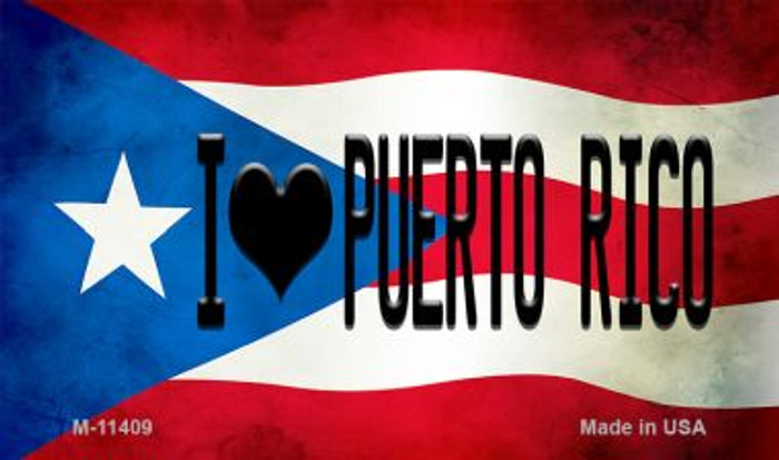 I Love Puerto Rico Puerto Rico State Flag Wholesale Magnet M-11409