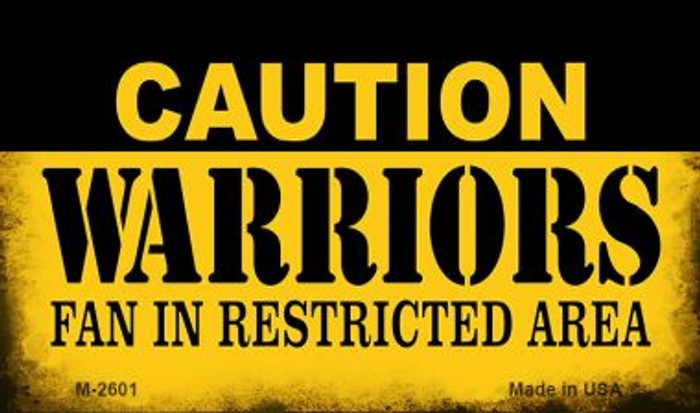 Caution Warriors Fan Area Wholesale Magnet M-2601