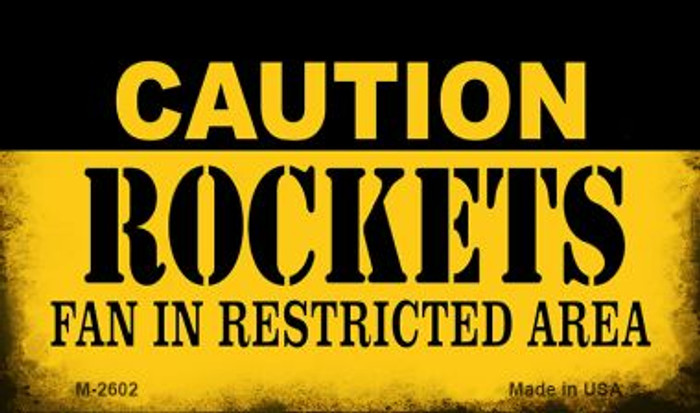 Caution Rockets Fan Area Wholesale Magnet M-2602
