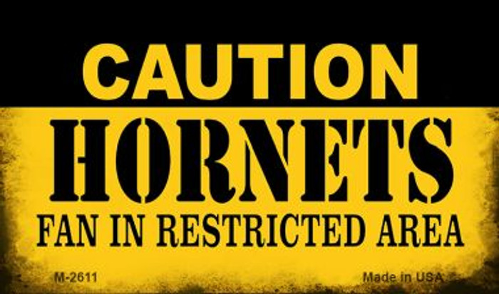 Caution Hornets Fan Area Wholesale Magnet M-2611