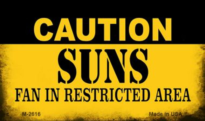 Caution Suns Fan Area Wholesale Magnet M-2616
