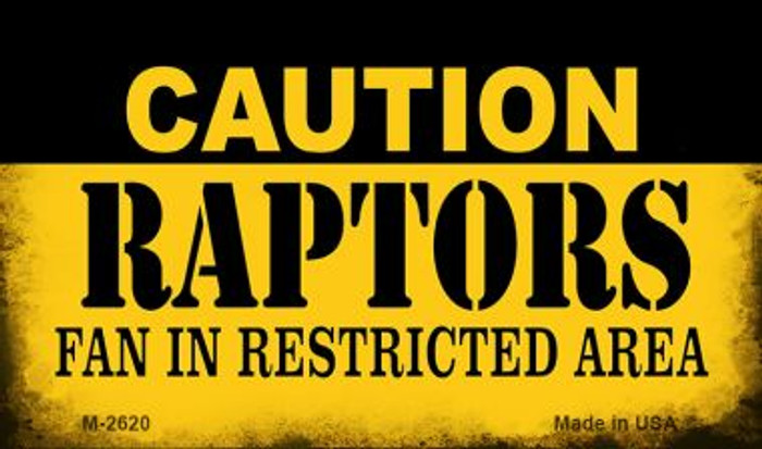 Caution Raptors Fan Area Wholesale Magnet M-2620