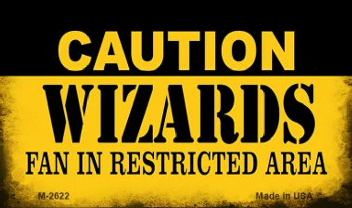 Caution Wizards Fan Area Wholesale Magnet M-2622