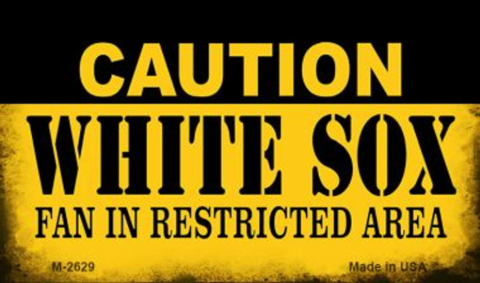 Caution White Sox Fan Area Wholesale Magnet M-2629
