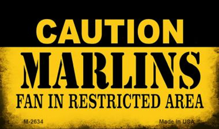 Caution Marlins Fan Area Wholesale Magnet M-2634
