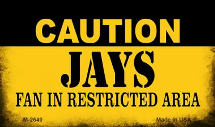 Caution Jays Fan Area Wholesale Magnet M-2649