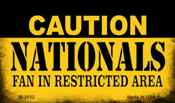 Caution Nationals Fan Area Wholesale Magnet M-2652
