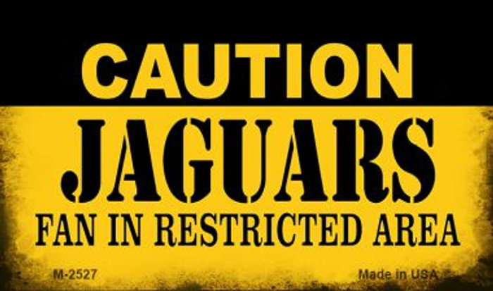 Caution Jaguars Fan Area Wholesale Magnet M-2527