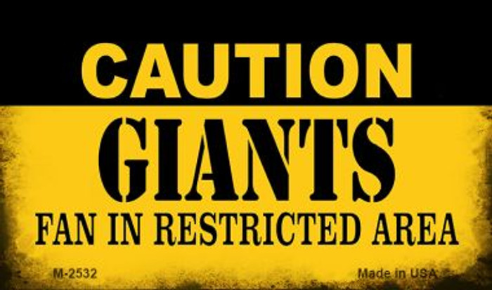 Caution Giants Fan Area Wholesale Magnet M-2532