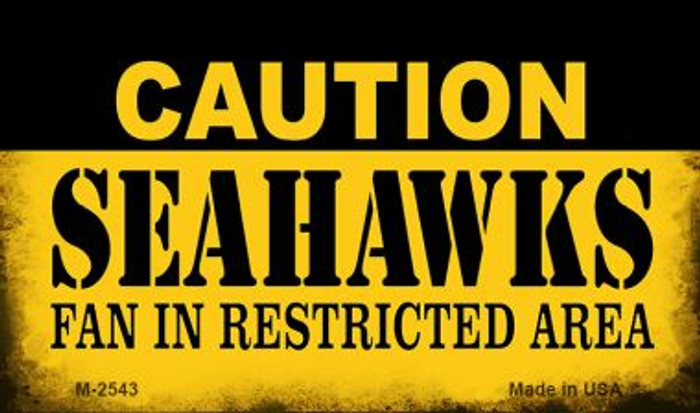 Caution Seahawks Fan Area Wholesale Magnet M-2543