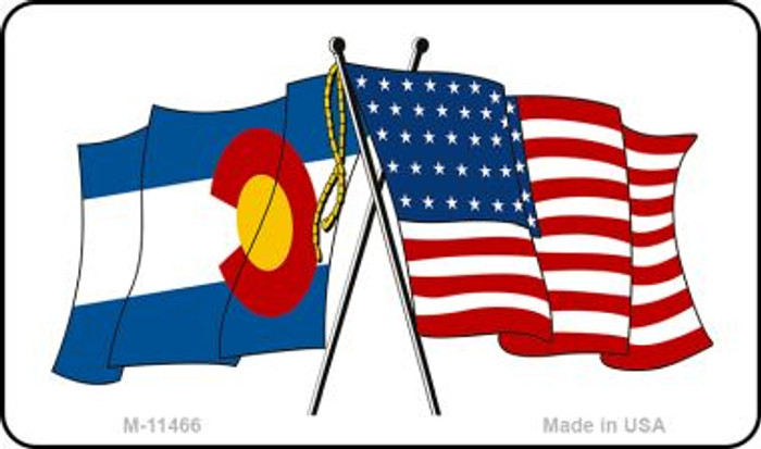 Colorado Crossed US Flag Wholesale Magnet M-11466
