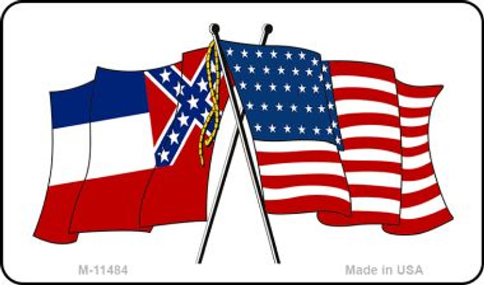 Mississippi Crossed US Flag Wholesale Magnet M-11484