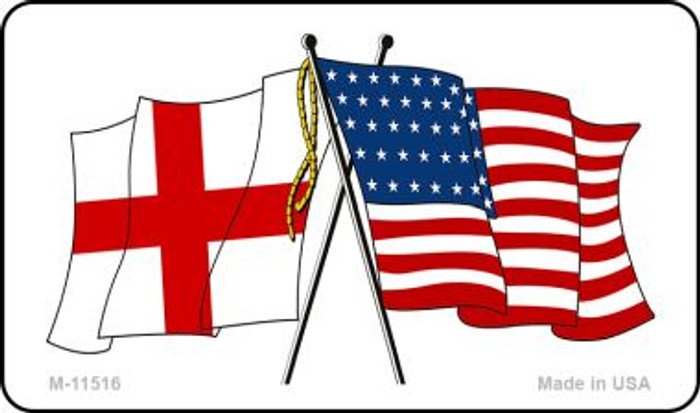England Crossed US Flag Wholesale Magnet M-11516