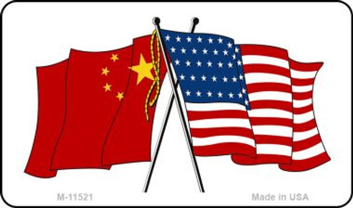 China Crossed US Flag Wholesale Magnet M-11521