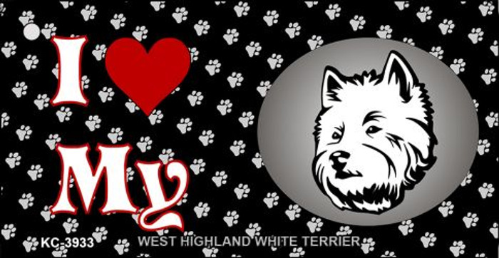 I Love My West Highland White Terrier Wholesale Key Chain KC-3933