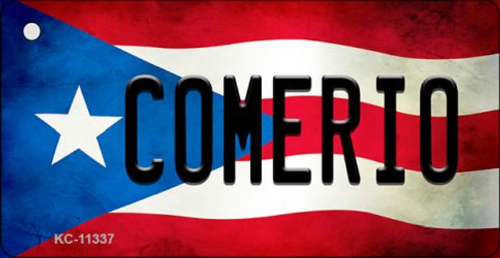 Comerio Puerto Rico State Flag License Plate Wholesale Key Chain KC-11337
