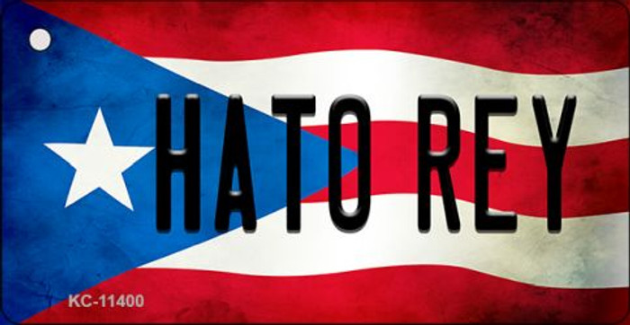 Hato Rey Puerto Rico State Flag License Plate Wholesale Key Chain KC-11400