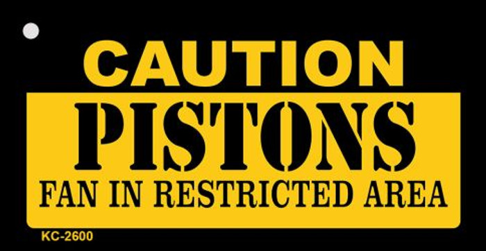 Caution Pistons Fan Area Wholesale Key Chain KC-2600