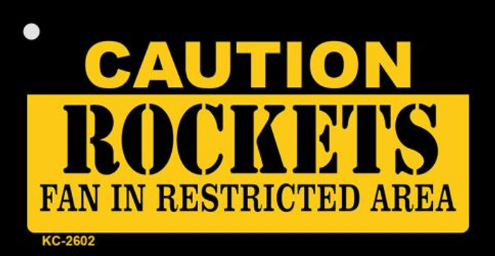 Caution Rockets Fan Area Wholesale Key Chain KC-2602