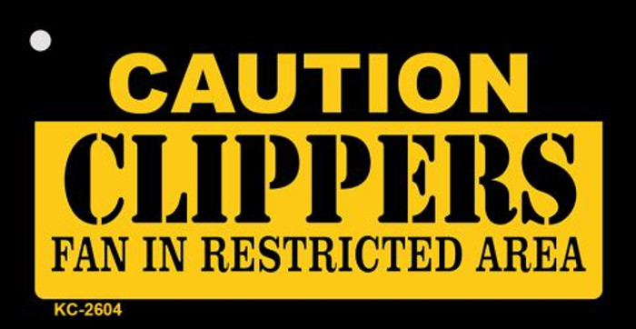 Caution Clippers Fan Area Wholesale Key Chain KC-2604