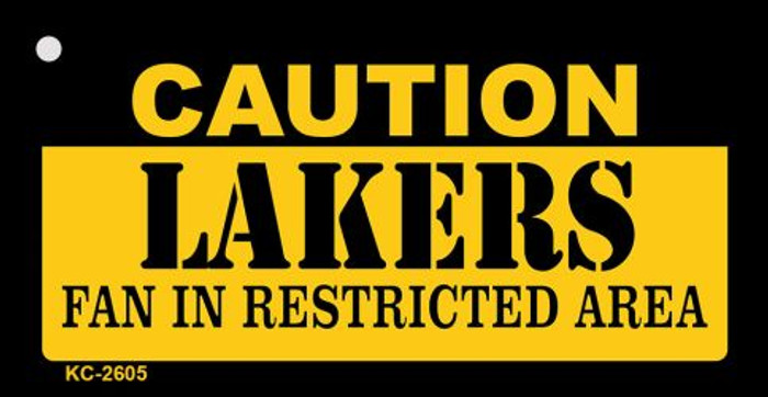 Caution Lakers Fan Area Wholesale Key Chain KC-2605