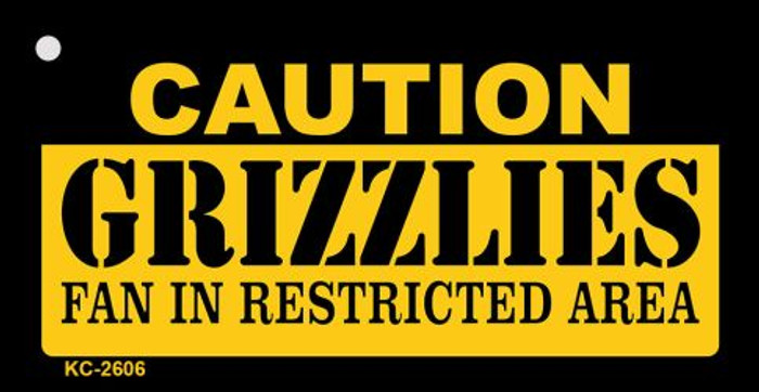 Caution Grizzlies Fan Area Wholesale Key Chain KC-2606