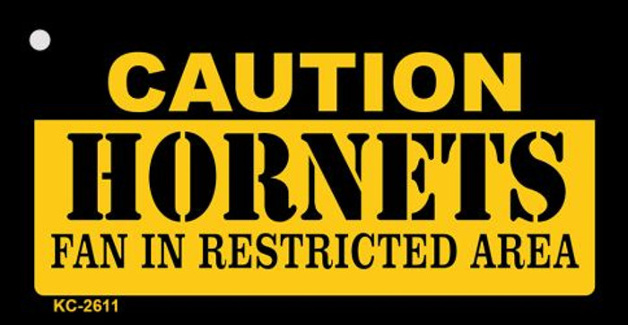 Caution Hornets Fan Area Wholesale Key Chain KC-2611