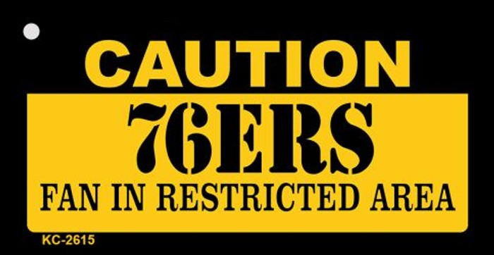 Caution 76ers Fan Area Wholesale Key Chain KC-2615