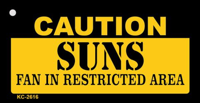 Caution Suns Fan Area Wholesale Key Chain KC-2616