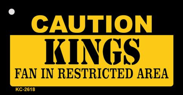 Caution Kings Fan Area Wholesale Key Chain KC-2618
