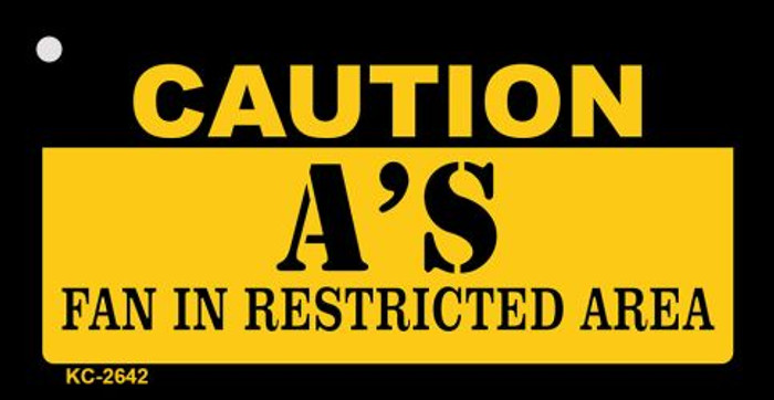 Caution A's Fan Area Wholesale Key Chain