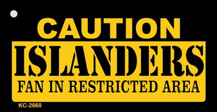 Caution Islanders Fan Area Wholesale Key Chain
