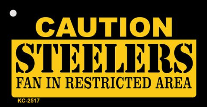 Caution Steelers Fan Area Wholesale Key Chain