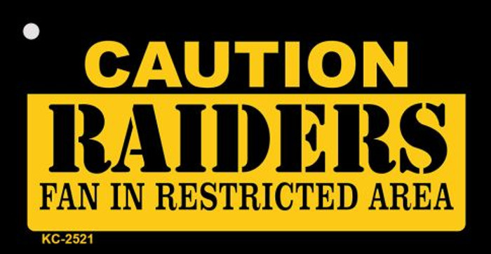 Caution Raiders Fan Area Wholesale Key Chain