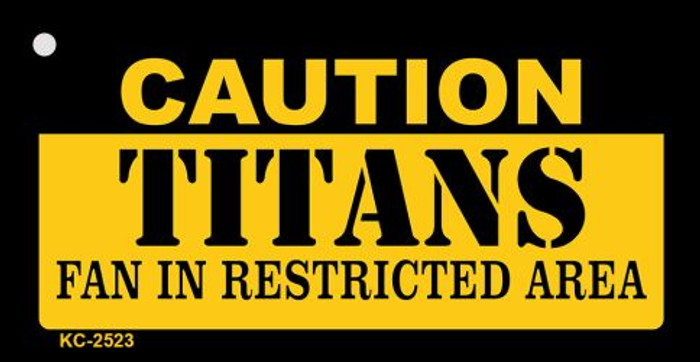Caution Titans Fan Area Wholesale Key Chain