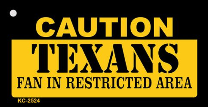 Caution Texans Fan Area Wholesale Key Chain