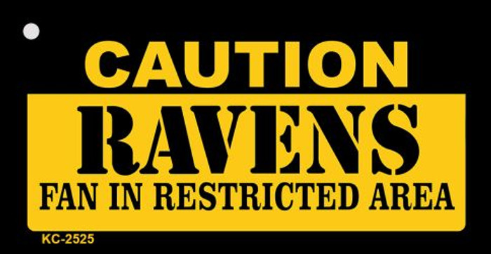 Caution Ravens Fan Area Wholesale Key Chain