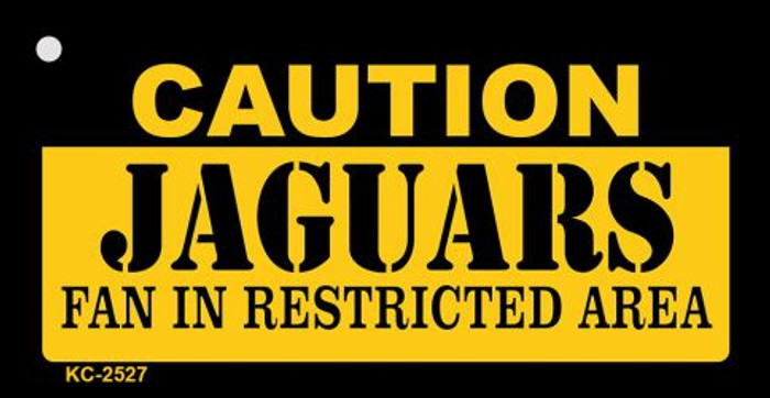 Caution Jaguars Fan Area Wholesale Key Chain