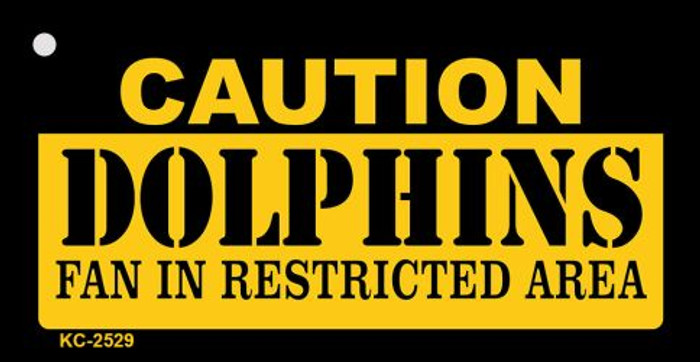 Caution Dolphins Fan Area Wholesale Key Chain