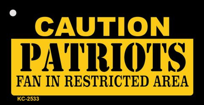Caution Patriots Fan Area Wholesale Key Chain