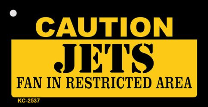 Caution Jets Fan Area Wholesale Key Chain