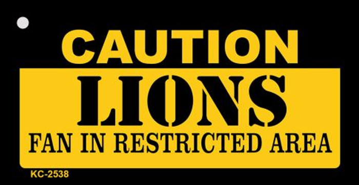 Caution Lions Fan Area Wholesale Key Chain