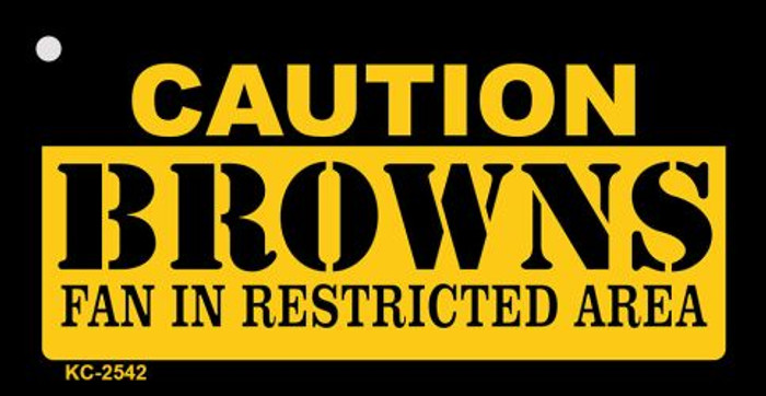 Caution Browns Fan Area Wholesale Key Chain