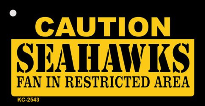 Caution Seahawks Fan Area Wholesale Key Chain